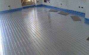 Impianto radiante a pavimento