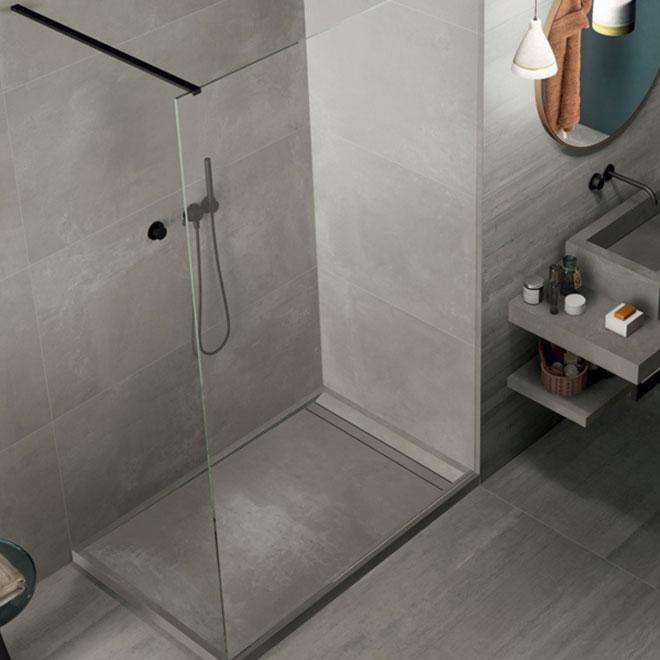 box doccia e sauna Parete Walk-In