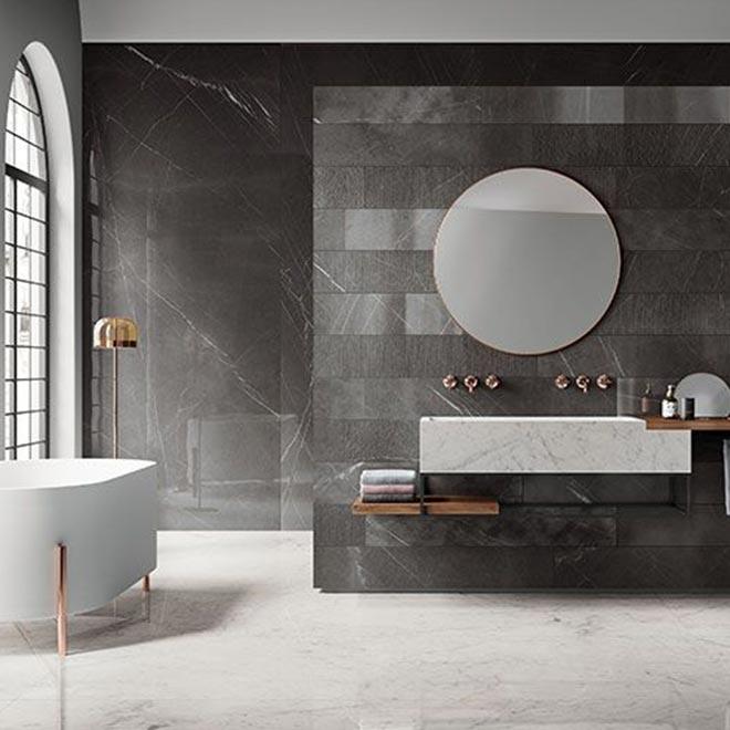 pavimento in ceramica effetto marmo