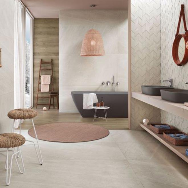 pavimento in ceramica effetto pietra